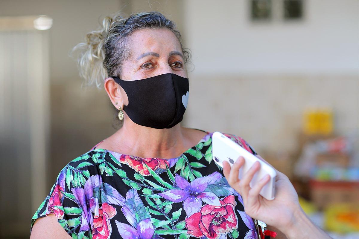 Diretora administrativa do Lar do Bom Samaritano, Dolores Miranda.