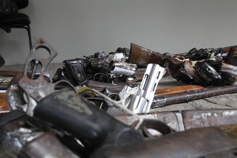 Material é destruído em Recife, Pernambuco. Foto: Ascom CGJ/AL
