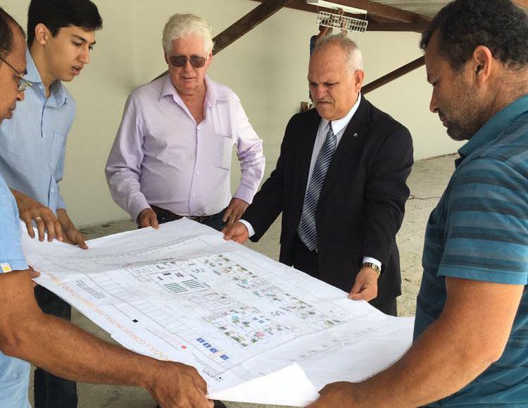 Presidente Otávio Leão Praxedes inspeciona novo Fórum da Comarca de Rio Largo