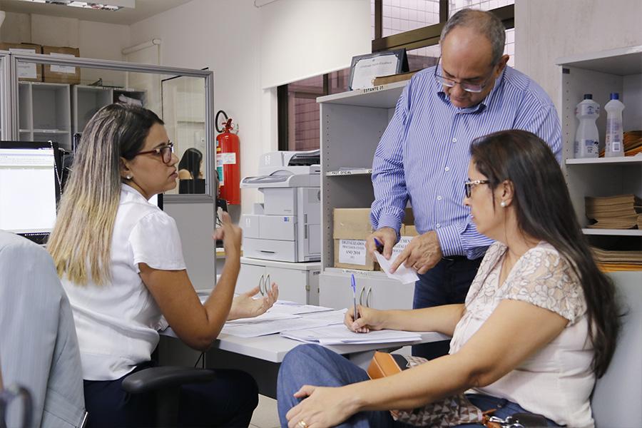 Servidores da Corregedoria durante inspeção na Comarca de Boca da Mata