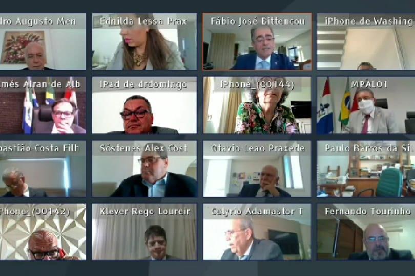 Sessão plenária virtual do TJAL, nesta terça (2).
