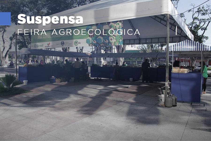 Feira agroecológica é montada na frente do Tribunal, na Praça Deodoro, e no Fórum da Capital.