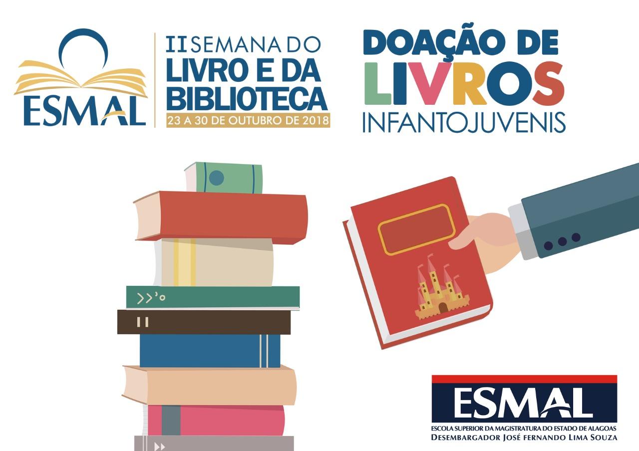 Livros podem ser doados até dia 5 de outubro.