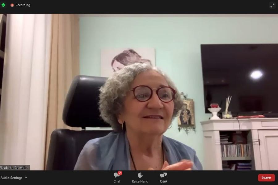 Desembargadora Elisabeth Carvalho, diretora da Esmal, durante aula magna