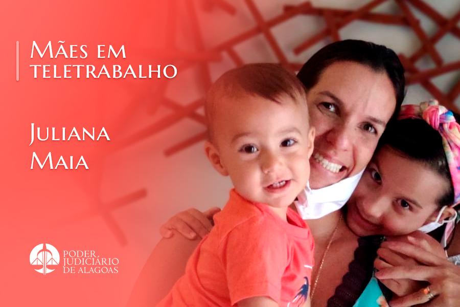 Juliana Maia conciliou trabalho e desenvolvimento dos filhos durante a pandemia