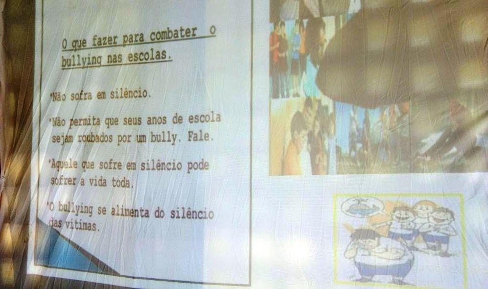 Estudantes foram orientados sobre como agir no caso de bullying.