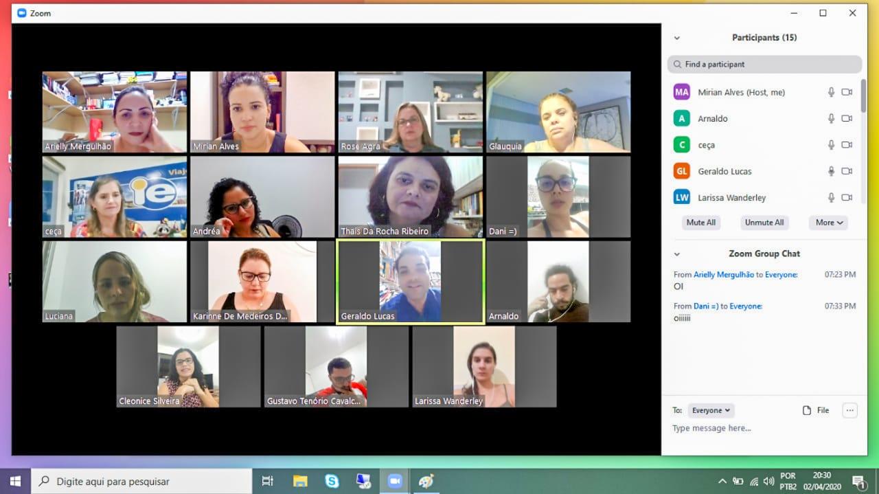 Servidores se reuniram por meio de aplicativo para reuniões virtuais na quinta-feira (2).