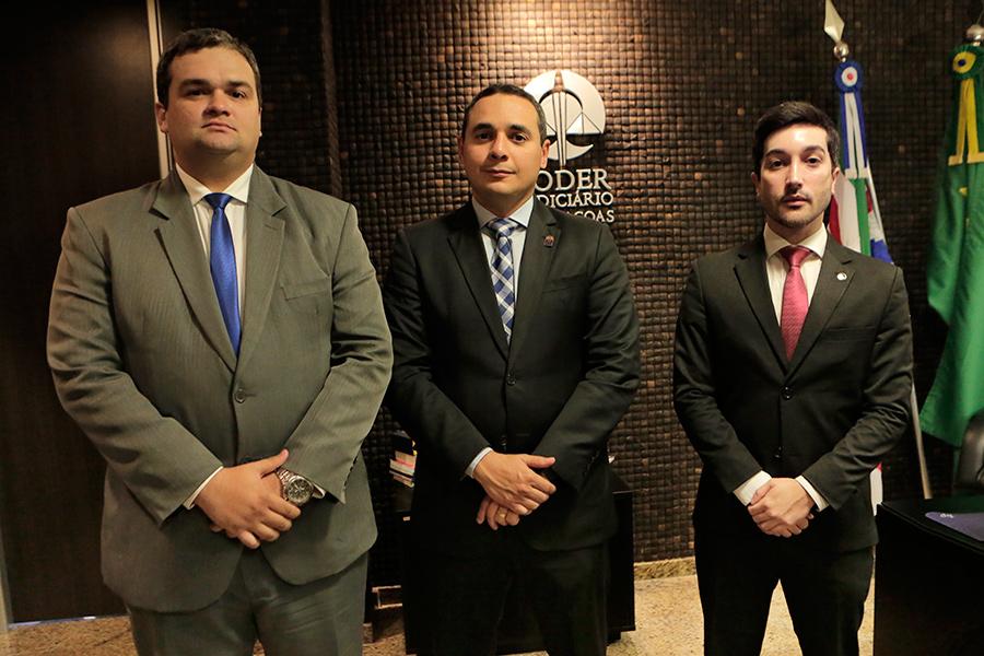 Juízes André Parízio, José Eduardo Nobre Carlos e Thiago Morais são os novos integrantes do Ferc.