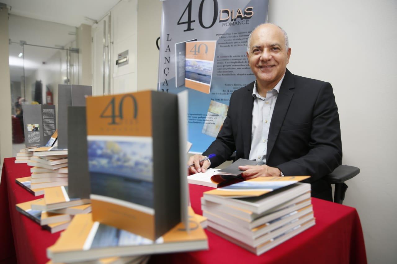 '40 dias' é o primeiro romance do juiz Luciano Andrade.
