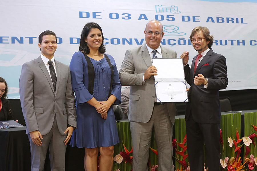 Desembargador Fernando Tourinho, o filho, foi convidado para receber a honraria. Foto: Itawi Albuquerque