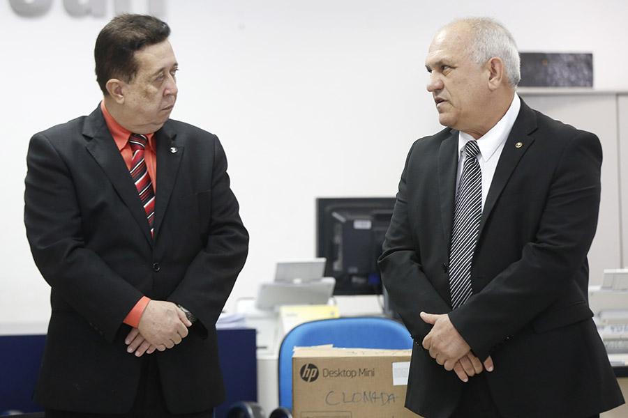 Presidente Otávio Praxedes e juiz da Comarca de São José da Laje, José Alberto Ramos.