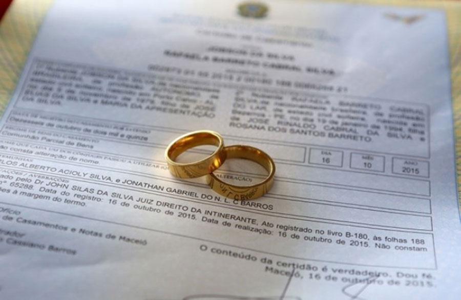 Casamento coletivo será promovido pela Justiça Itinerante.