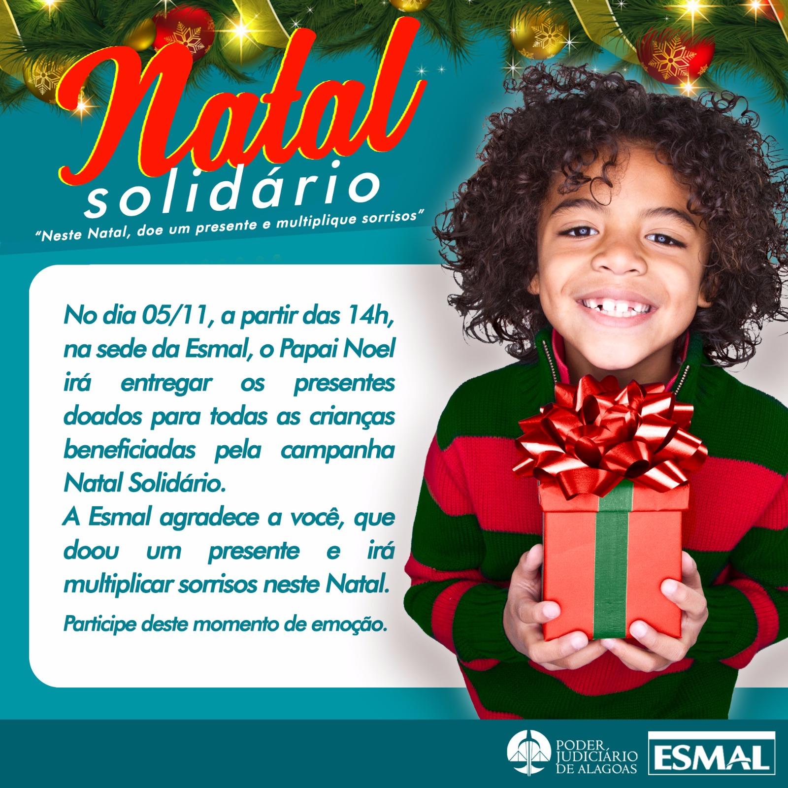 Convite para a grande celebração do Natal Solidário