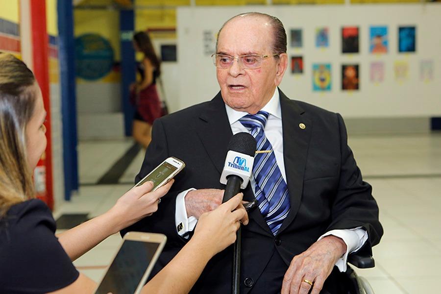 José Agnaldo de Souza Araújo durante homenagem da Uninassau, em 2018.