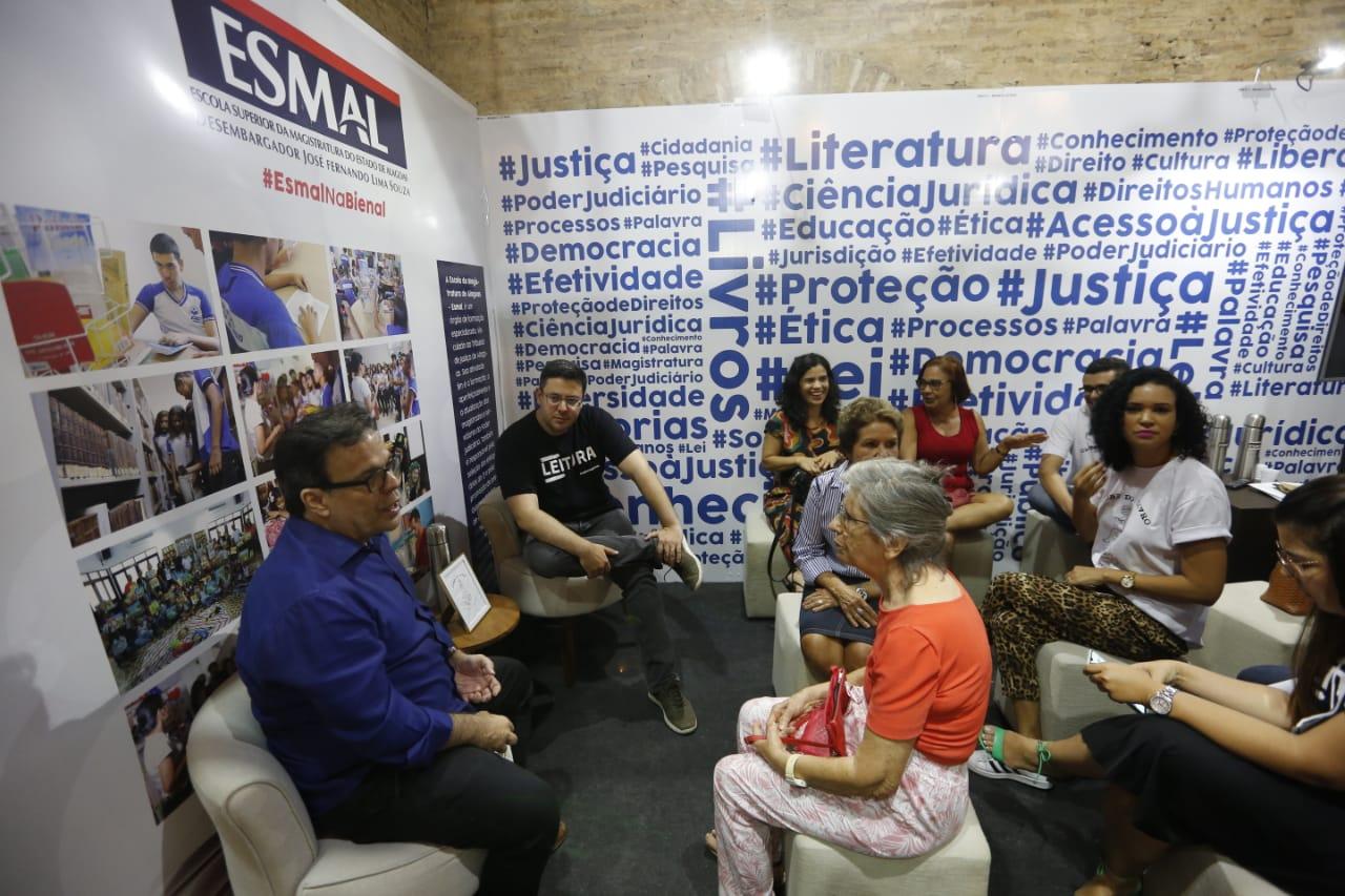 Presidente Tutmés Airan conversou com o público e destacou a importância dessa aproximação com a sociedade. Foto: Caio Loureiro