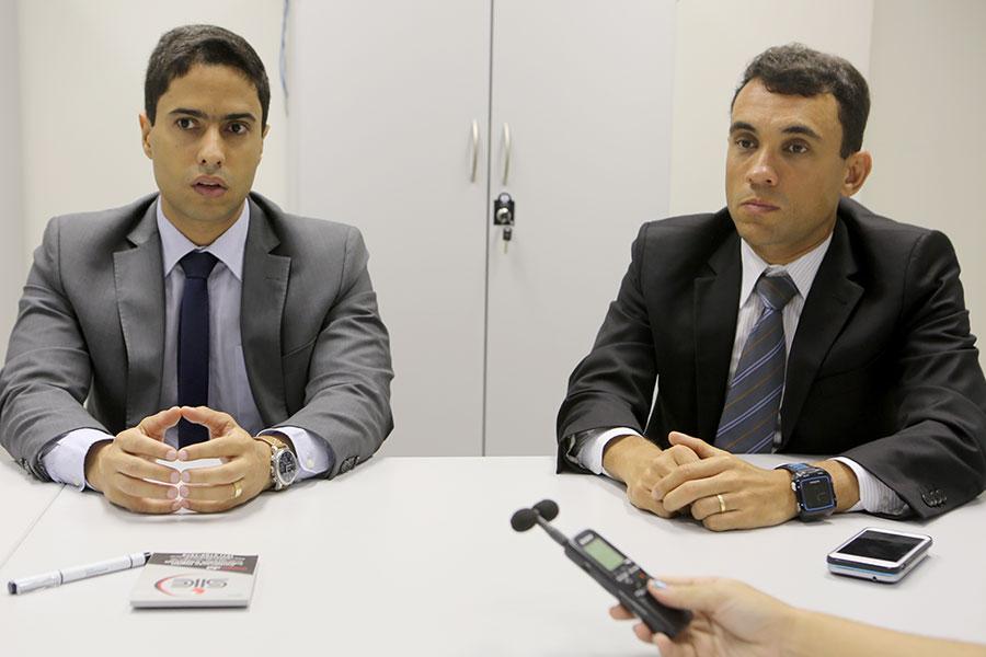 Juiz Carlos Bruno e Diretor da Diati, José Baptista.