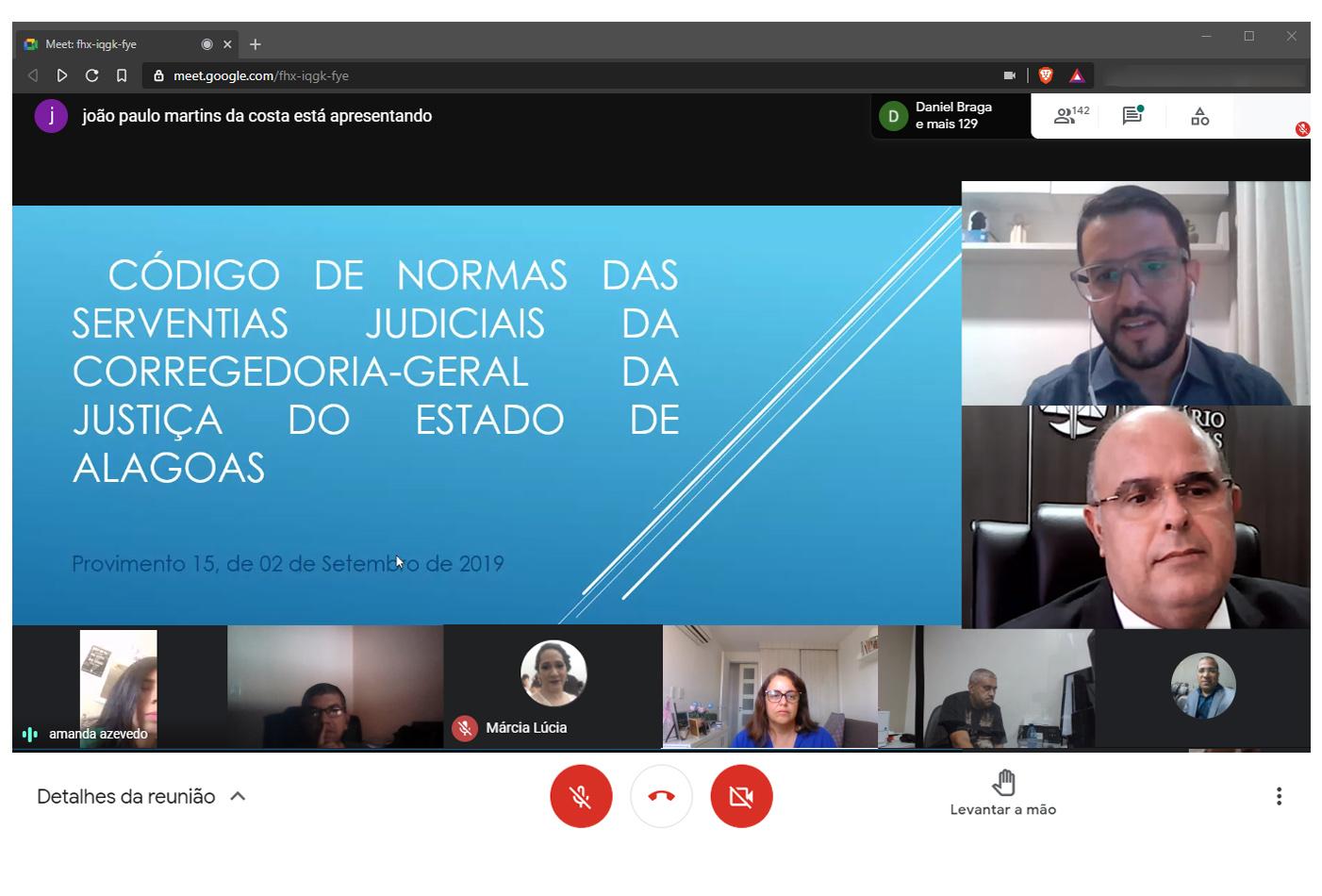 Corregedor Fernando Tourinho destacou a importância da colaboração dos servidores. Foto: Itawi Albuquerque