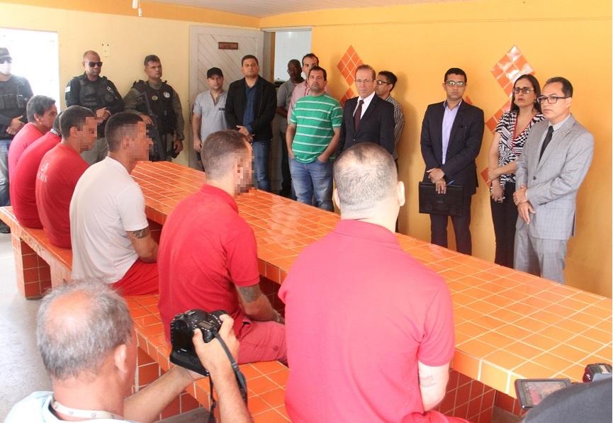 Magistrados inspecionaram as oito unidades do sistema prisional, nesta segunda-feira