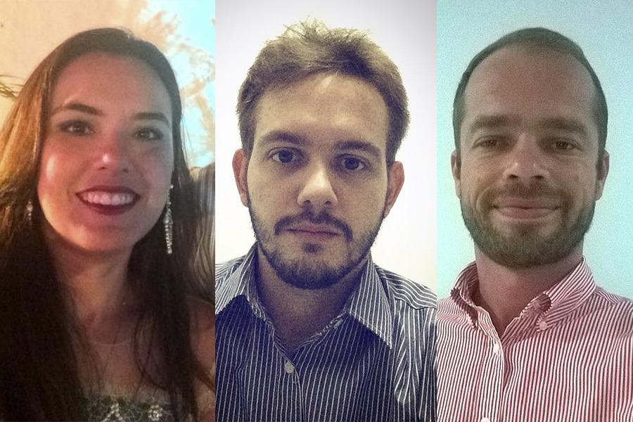 Renata Batista, Pedro Coutinho e Marcello Vasconcelos são alunos da primeira turma do curso.