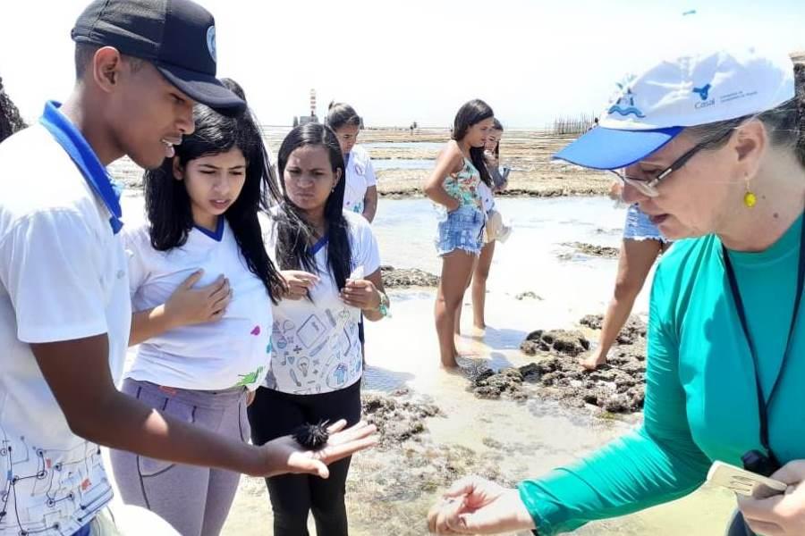 Estudantes aprenderam sobre preservação ambiental.