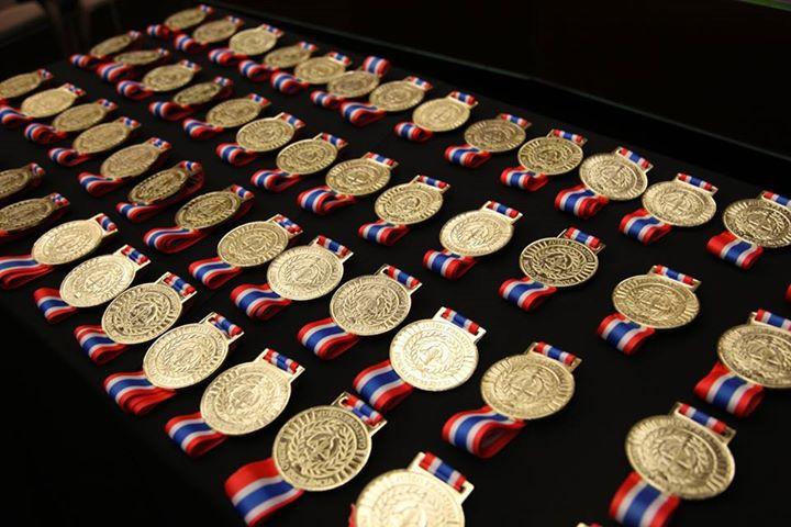 Medalhas do Juízo Proativo distribuídas na premiação de dezembro de 2014.