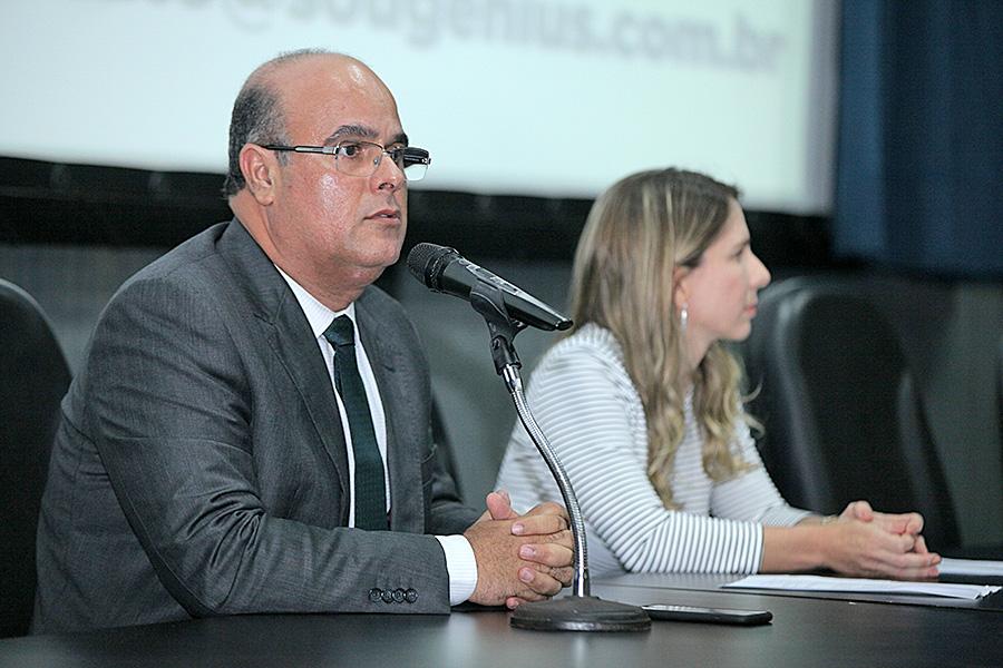 Desembargador Fernando Tourinho e magistrada Luciana Raposo.