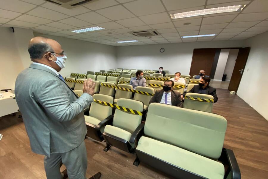 Reunião, realizada na sede do TJAL, foi conduzida pelo desembargador Fernando Tourinho.