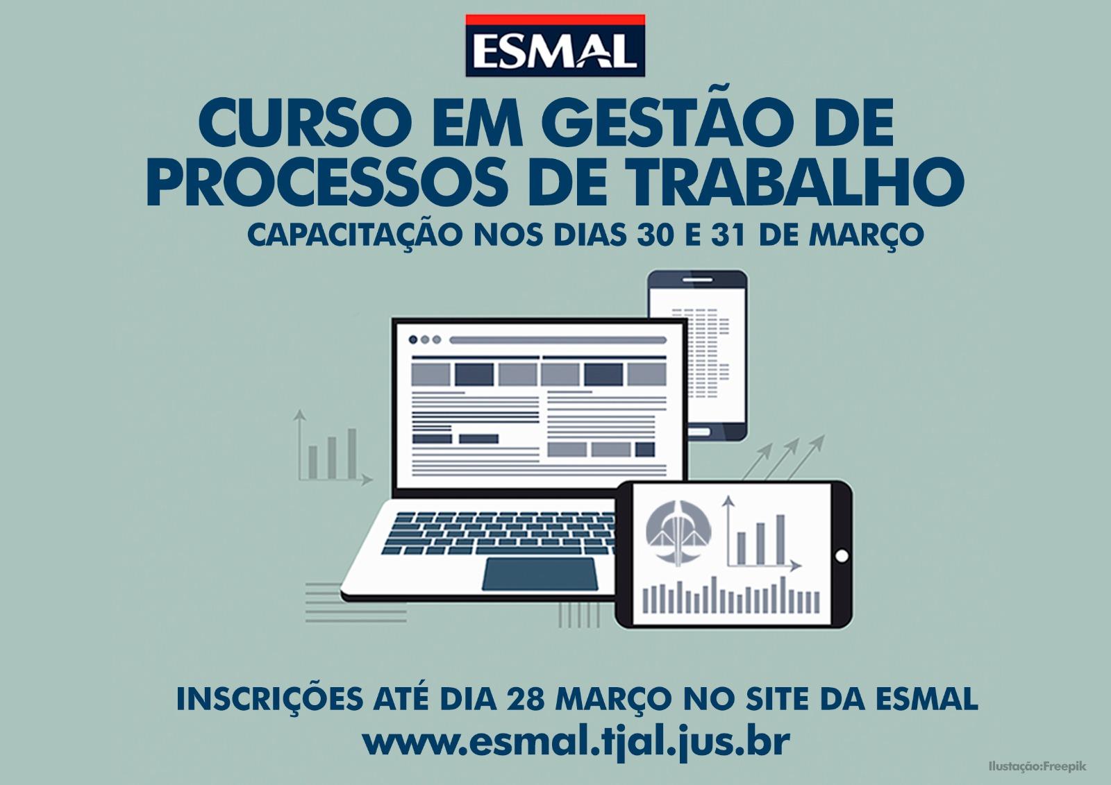 Curso de Gestão de Processos de Trabalho recebe inscrições até 28/03