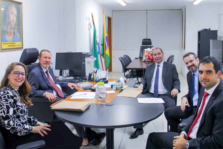 Corregedor e juízes auxiliares receberam representantes da Corregedoria Nacional