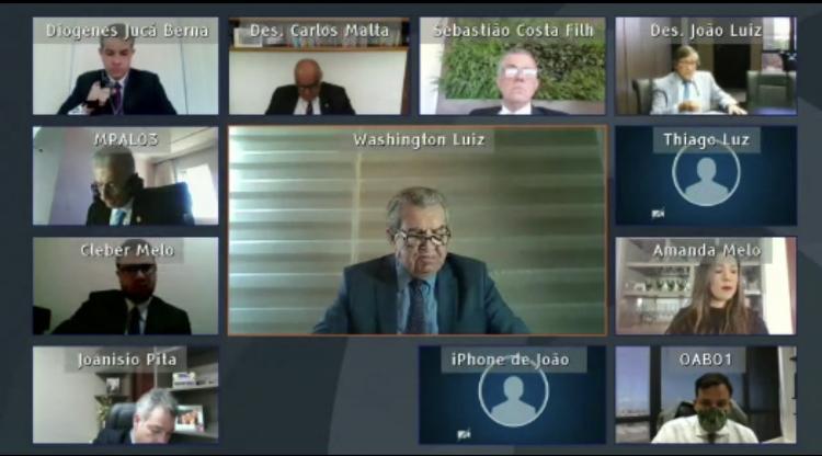Câmara Criminal do TJAL julga 123 processos em mais uma sessão virtual