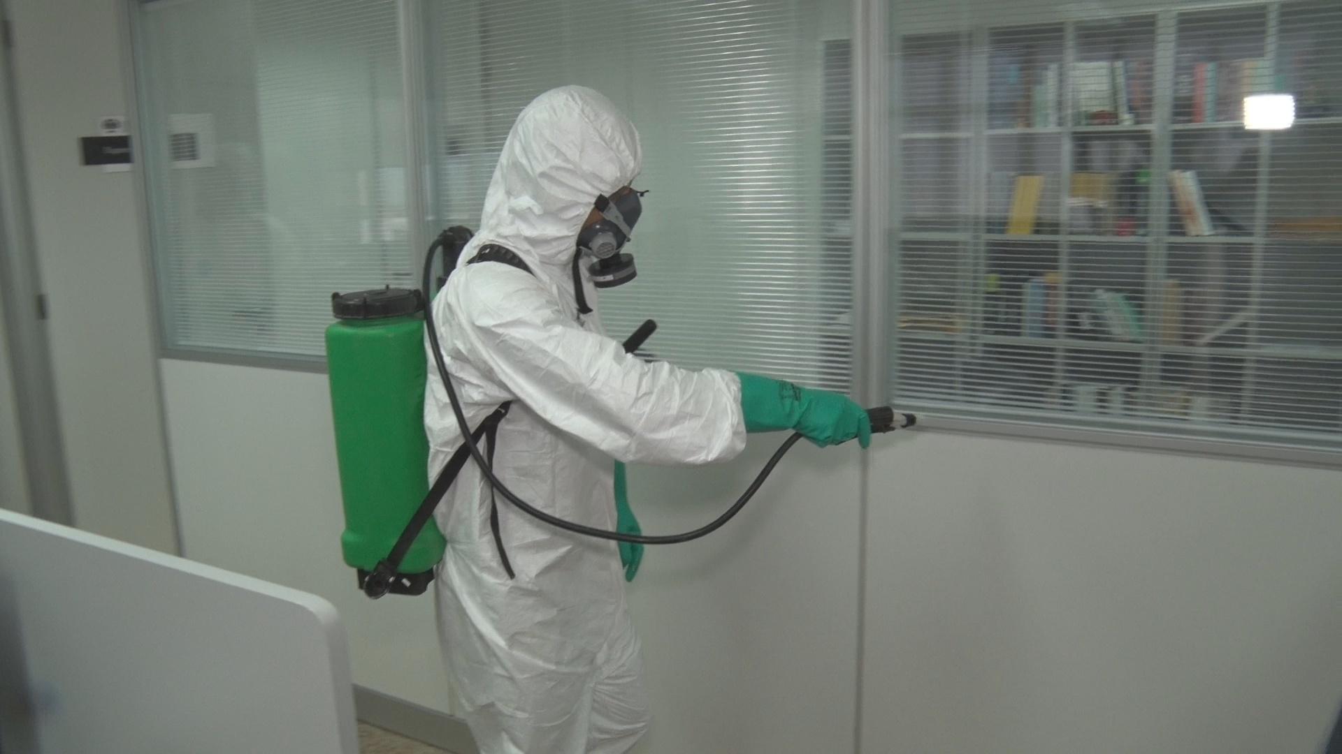 Prédios do TJAL e da Corregedoria passam por nova desinfecção