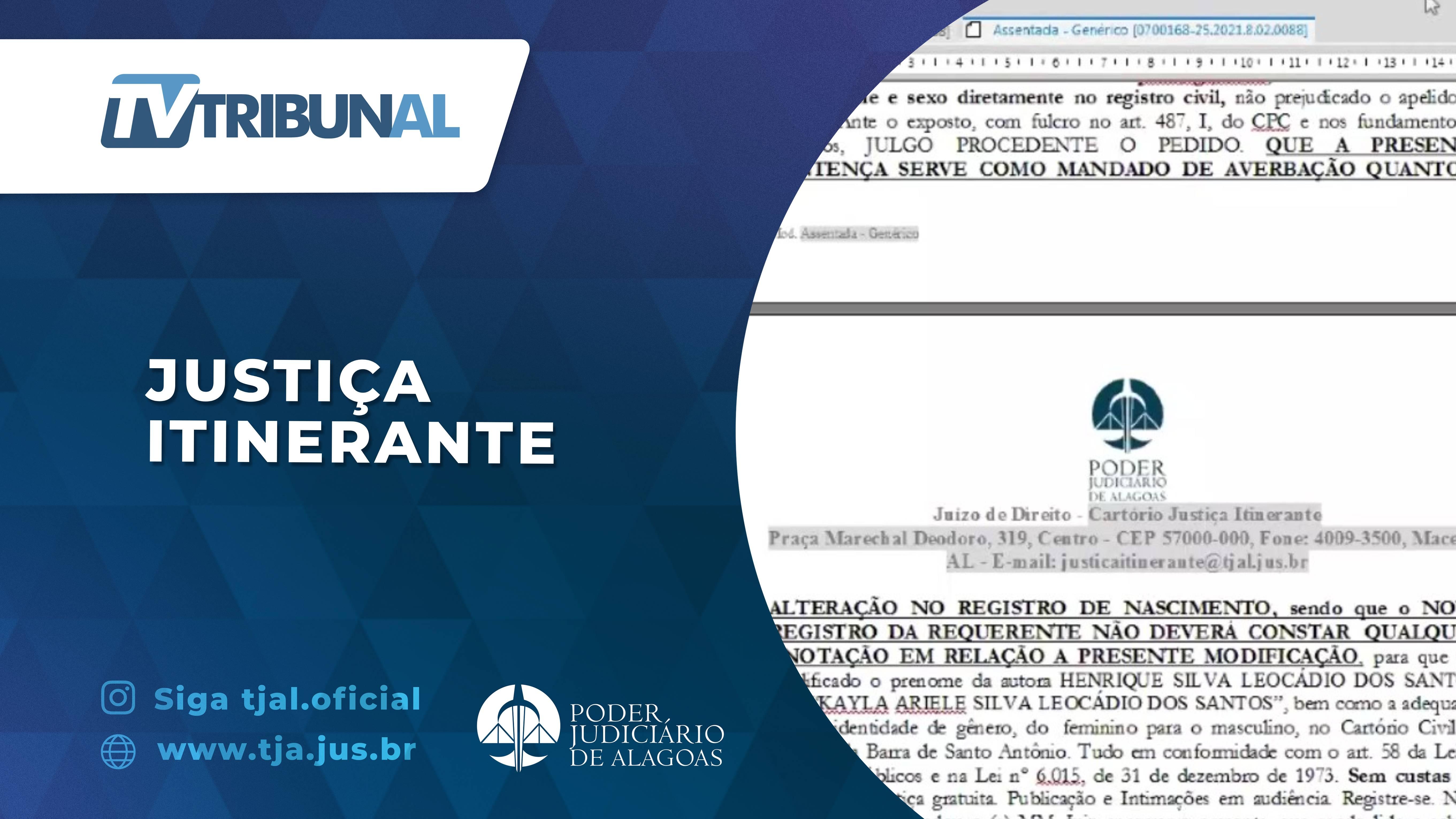 TJAL promove mutirão para alteração de nome e gênero no registro civil